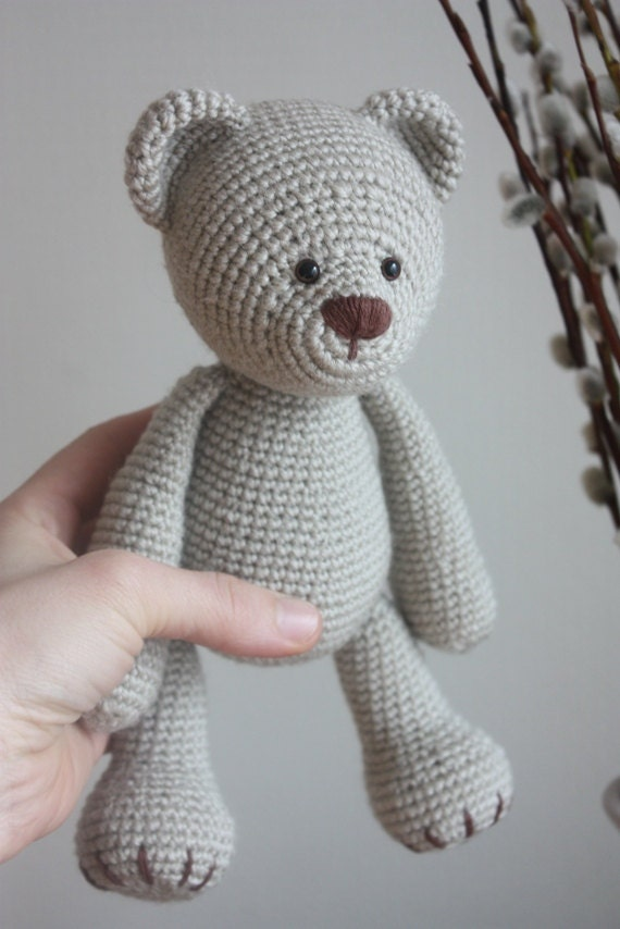 Crochet Amigurumi Teddy Bear PATTERN Lucas the Teddy