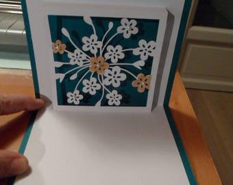 Birthday card for mother, friendship card kirigami
