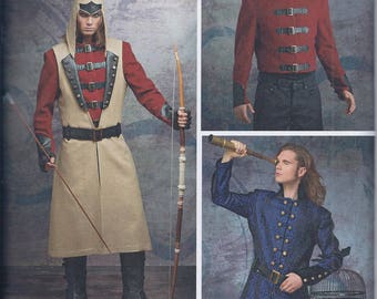 Simplicity 8235 Mens Cosplay Costume Coat Jacket Pirate Steampunk UNCUT Sewing Pattern
