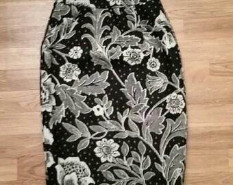 VTG Ungaro Parellele Floral Pencil Skirt 26 Waist