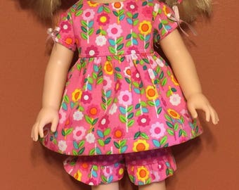 """Top and ruffled shorts for the 14.5"""" doll"""