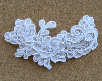 Bridal Floral Lace Hairpiece | Handmade