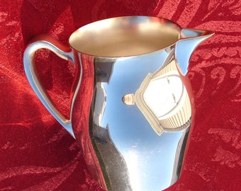 Poole Silver Co. Pitcher 526, Silver Cream Pitcher