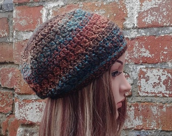 Colourful beanie  . Crochet  beanie hat , Women's beanie . Crochet hat. Festival beanie hat .Winter hat