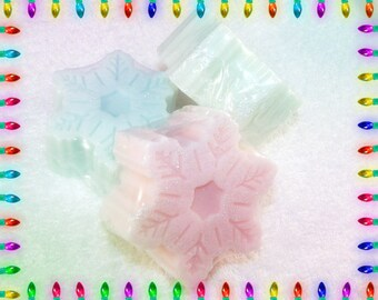 Snowflake Glycerin Soap, Sparkly Snowflake Soap, Snowflake Gift, Snowflake Soap, Christmas Soap, Holiday Soap, Winter Soap