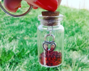 Jar of Hearts Keychain