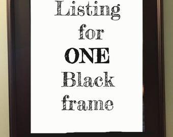 Plain black frame