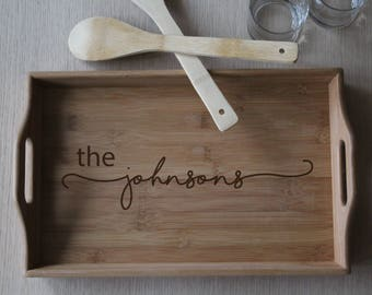 Personalized Serving Tray for Kitchen or Bar, Wedding Gift, Housewarming Gift