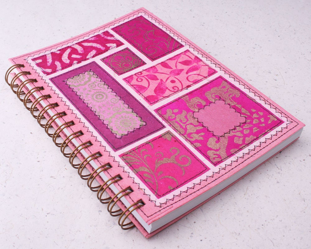 Dot grid journal a5 notebook bohemian soul pink recycled zoom arubaitofo Image collections