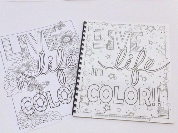Live Life in COLOR coloring book