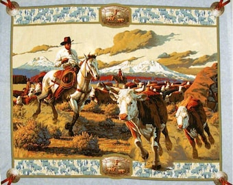 Cattle Drive Fabric Panel