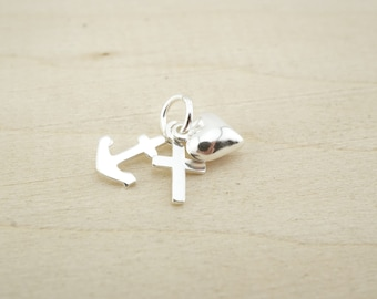 Sterling Silver Anchor Cross Heart - Sterling Silver Wholesale - Wholesale Sterling Silver  - Sterling silver faith hope love