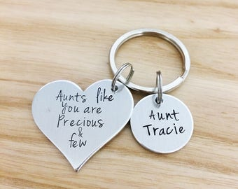 Mothers day gift,  Aunts like you are precious and few, personalized gift, special aunt gift, Gifts for aunts, Auntie, hand stamped