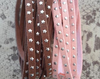 Strap flat suede with silver stars