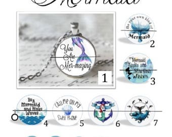 O' SNAP!!  Mermaid Switchable Charm Necklace or Keychain