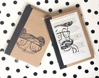 Two  little handprint DILISA notebook