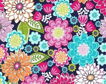7 Yards in Stock - Michael Miller Fabrics - Emma's Garden - Emma in Jewel - 100% Cotton