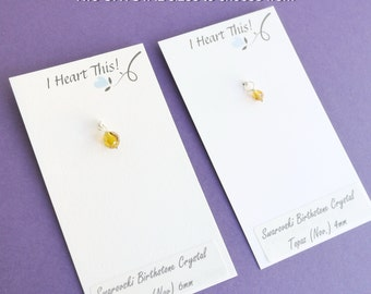 Add On/ Upgrade ONE Birthstone Crystal - for charm or initial necklace
