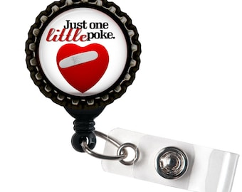 Just One Little Poke - Black Retractable Badge Reel ID Holder