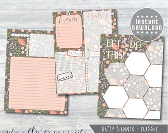 HAPPY PLANNER PRINTABLE Dashboard Planner Pages / Inserts - 7 x 9.25 | Fall Floral | Create 365 | Me & My Big Ideas | mambi | Dashboard