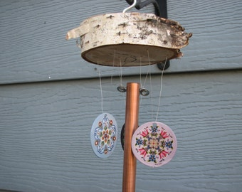 Windchime with rosemaling.
