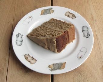 "Guinea Pig Plate [8"" Rimmed]"