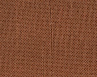 Tissu coton patchwork Brun Cannelle à étoiles brunes