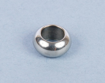 5 beads 10mm stainless steel ring