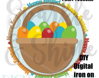 Easter Egg Hunt - Digital Iron On - Digital tshirt iron on - iron on transfer - Boy iron on - instant download - 1st Easter Iron On