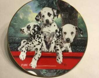 "Dalmatian Collector Plate ""Three Alarm Fire"""