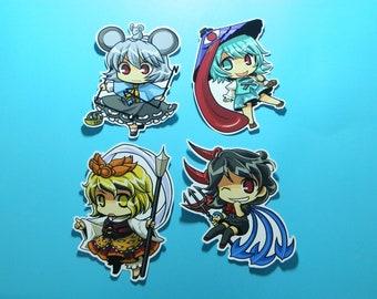Touhou Sticker 6Pcs. Part 12 Nazrin,Ichirin,Syou,Byakuren