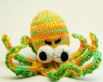 Obstinate Octopus Amigurumi Plush Toy Knitting Pattern PDF Digital Download