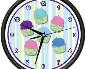 Cupcake 1 Wall Clock Baker Sweets Cupcake Dessert Pastry Bakery Gag Gift