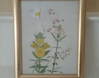 Vintage Framed Print Signed by Artist