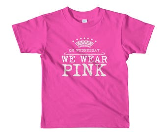 On Wednesday We Wear Pink Girl's Short Sleeve Shirt
