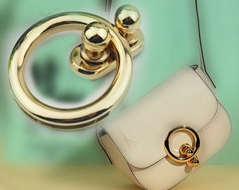 10 pieces gold round bag lock with Screw purse lock bag hardware  XY009