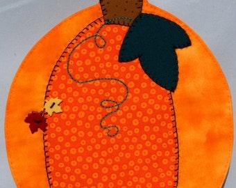 Pumpkin Harvest Mug Rug - Solid