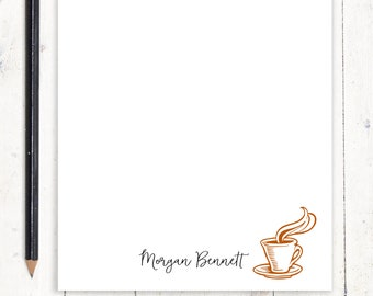 personalized notePAD - COFFEE CUP - stationery - stationary - letter writing paper - espresso notepad - coffee lover gift