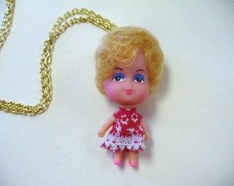 Vintage Tiny Doll Kiddles Necklace DEADSTOCK Carol