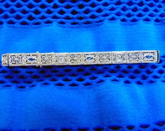 Sale!!! Art Deco Filigree 14k Bracelet