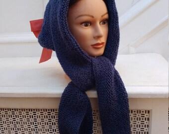 Custom orders: Godey's Opera Hood in 100% wool
