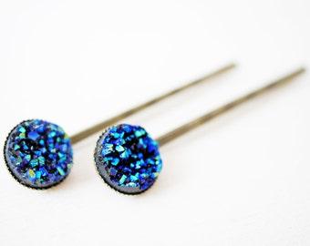 Crystal hair pins
