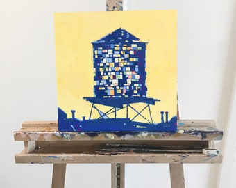 Painting: Brooklyn Water Tower (Not for Sale on ETSY, Inquire Directly)