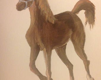 Horse painting print