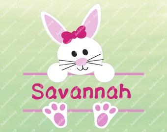 Bunny SVG for Easter, Split Bunny Design, Cute Easter Shirt Design