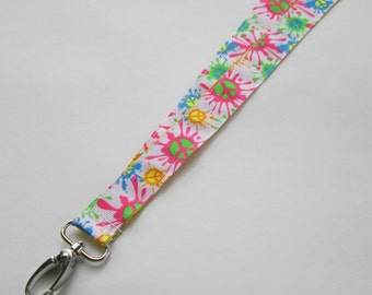 Reversible Peace Lanyard Keychains for Women, Cool Lanyards for Keys, Id Badge Holder Necklace Lanyards, Cute Lanyards for Badges