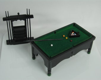 1:12 Scale dolls house miniature pool table set