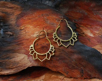 Lotus Flower - ear jewelry