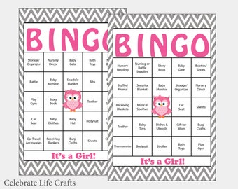 60 elephant baby shower bingo cards 60 prefilled bingo 100 owl baby shower bingo cards 100 prefilled bingo card girl baby shower game solutioingenieria Choice Image