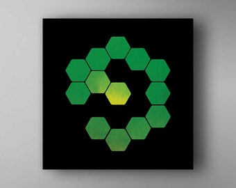 Boards of Canada Inspired. BOC. Hexagon. Music Poster. Wall Art.